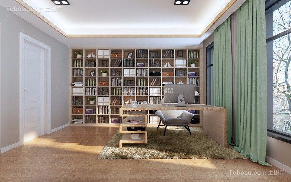 书房米色书桌欧式风格装饰图片