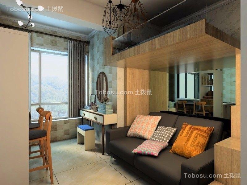 中弘卓越城47平方北欧风格1室1厨1卫装修效果图
