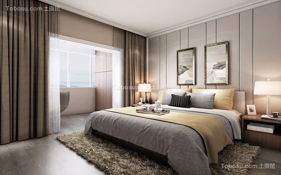 卧室咖啡色照片墙现代风格装饰设计图片