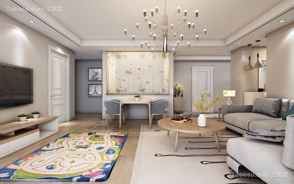 建业桂圆现代风格3室2厅130平米装修效果图