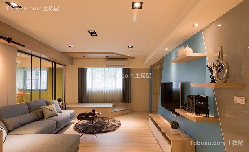 客厅米色电视柜现代风格装修效果图