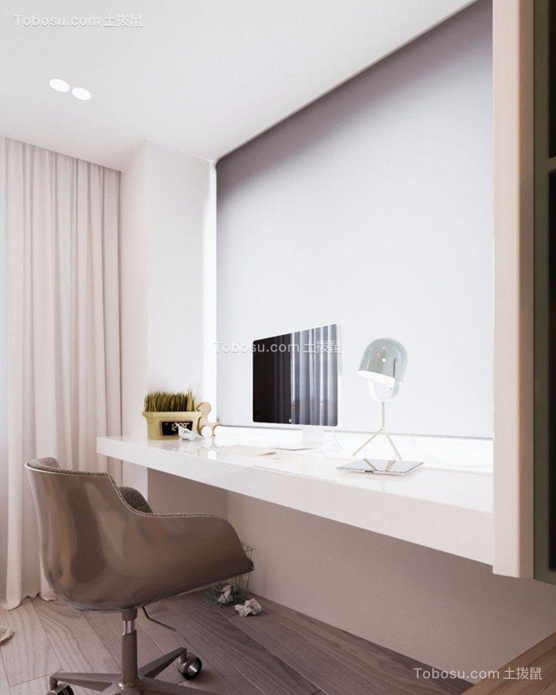 卧室白色书桌现代简约风格装修效果图