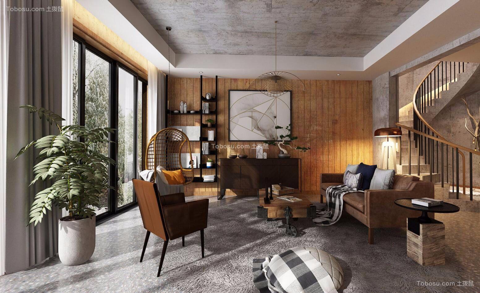重庆庆隆高尔夫580平米别墅LOFT风格装修效果图
