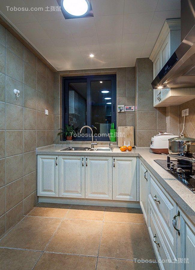 厨房 橱柜_铁建国际花园100平混搭风格三居装修效果图