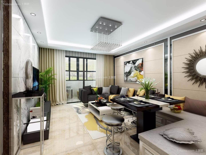 40平米一室一厅现代简约风格装修效果图