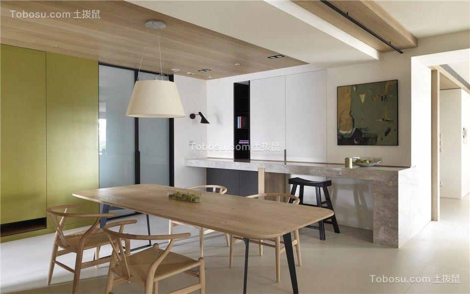 餐厅彩色吊顶现代简约风格装潢图片