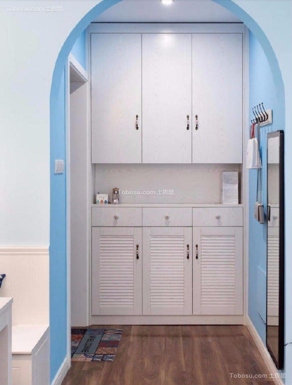 玄关 走廊_80平东城美居两室一厅美式装修效果图
