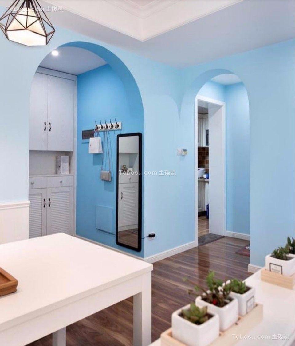 餐厅 走廊_80平东城美居两室一厅美式装修效果图