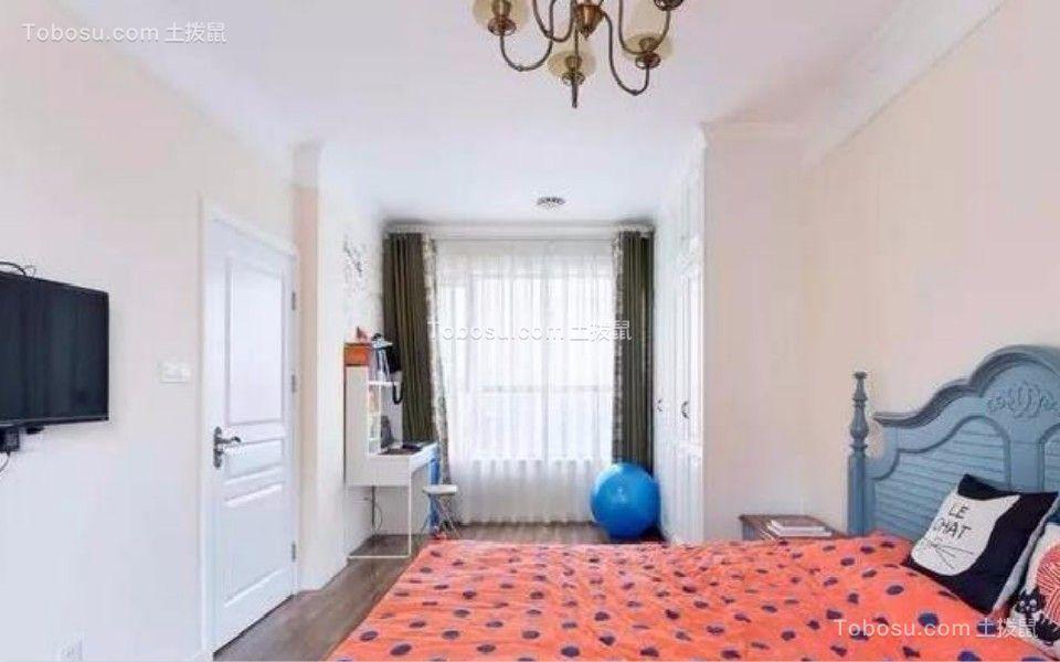 卧室 床_80平东城美居两室一厅美式装修效果图