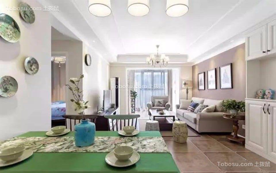 朱成海峰三室两厅美式风格精装案例