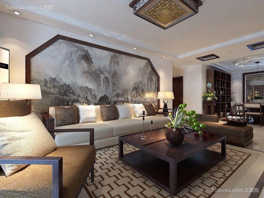 春风与湖新中式153平四居室装修效果图
