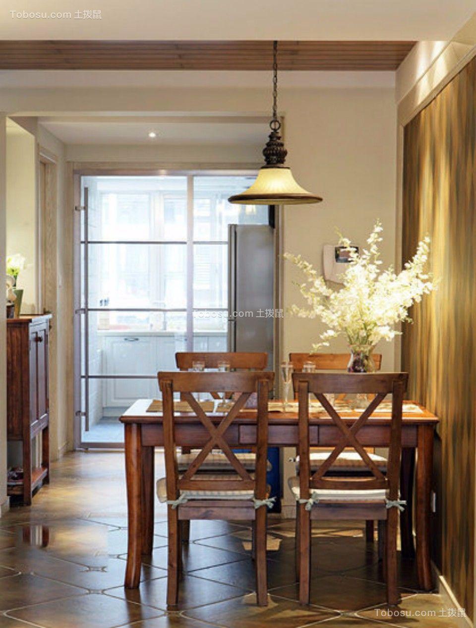 餐厅 餐桌_日出印象70平两室两厅美式装修效果图