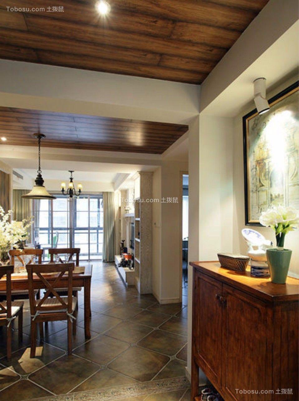 玄关 走廊_日出印象70平两室两厅美式装修效果图
