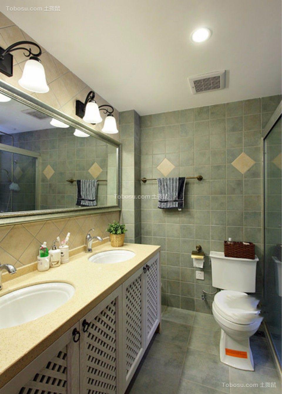 卫生间 洗漱台_日出印象70平两室两厅美式装修效果图