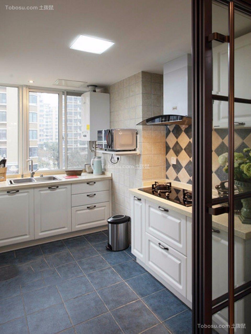 厨房 橱柜_日出印象70平两室两厅美式装修效果图