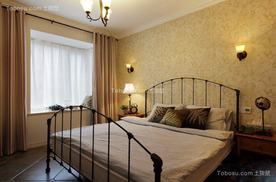 卧室 床_日出印象70平两室两厅美式装修效果图