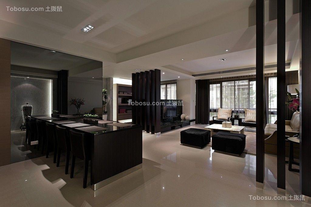 九龙花园120平现代简约风格三居室装修效果图
