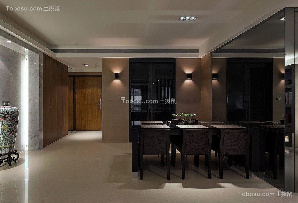 餐厅彩色餐桌现代简约风格装潢效果图