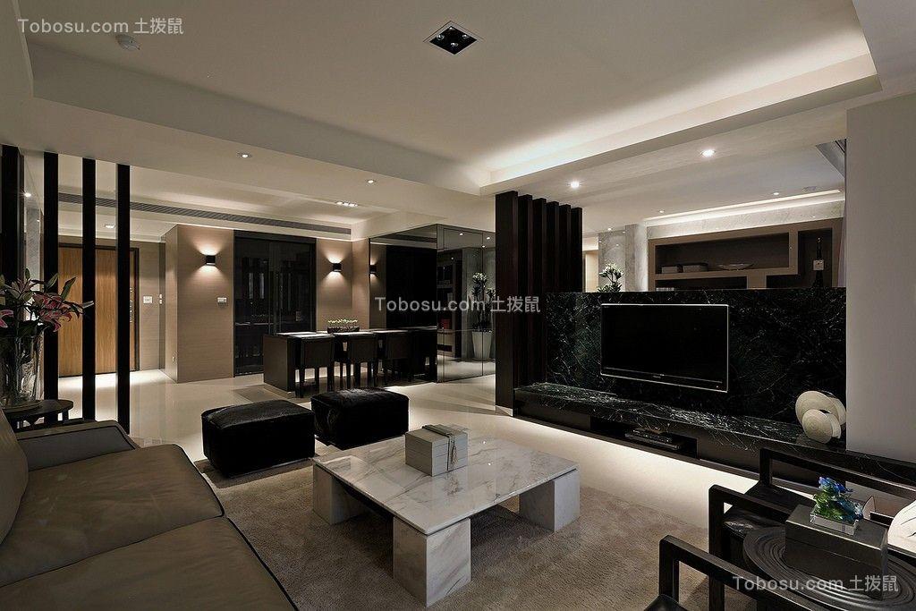 客厅彩色电视柜现代简约风格装饰图片