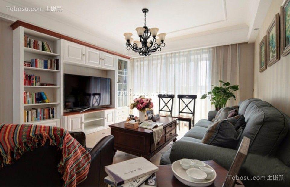 和源居两室两厅美式风格90平米装修效果图