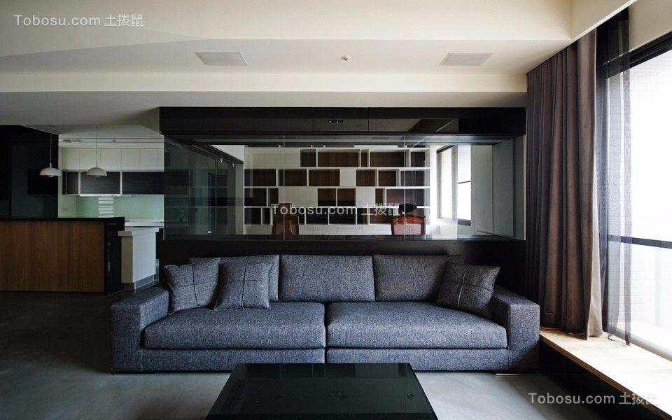 香树湾143平现代风格三居室装修效果图