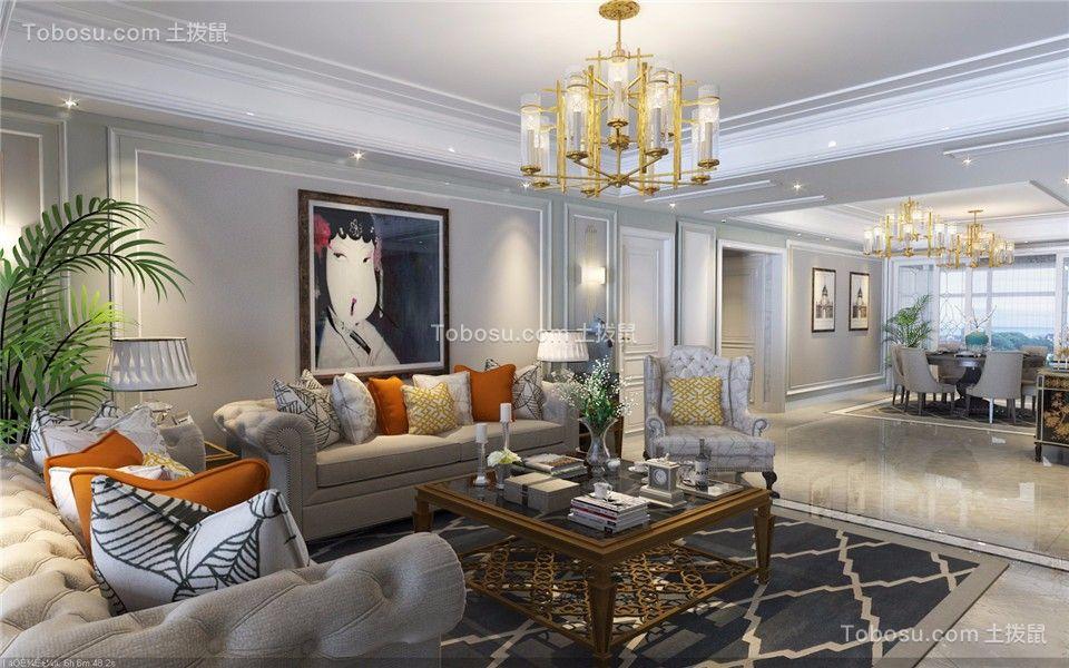 天玺湾156平米美式风格四居室装修效果图