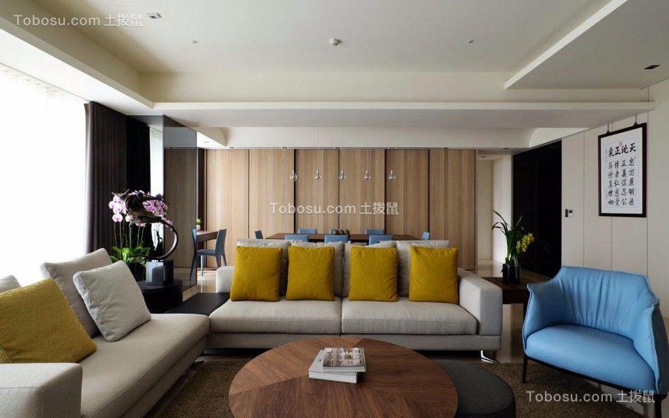 金域东郡127平现代风格三居室装修效果图