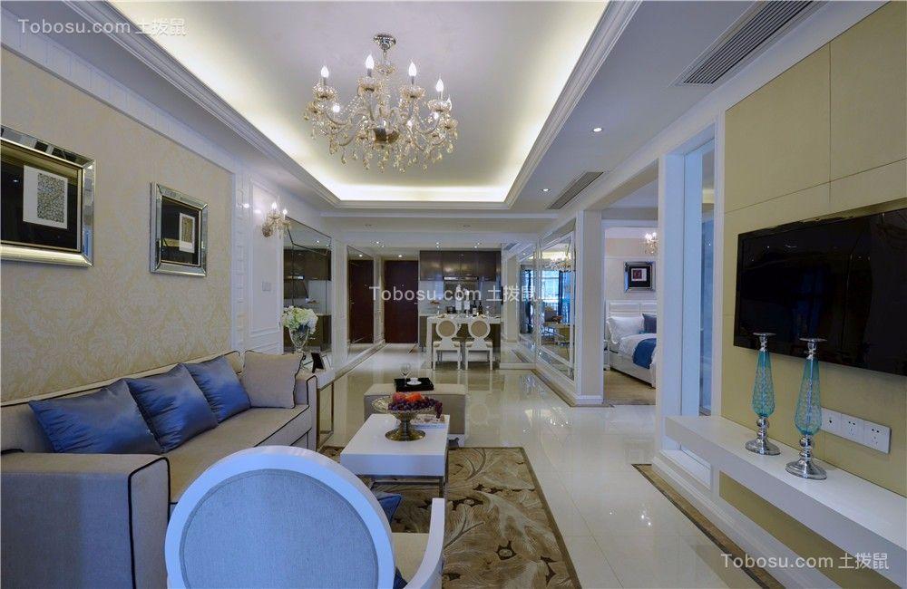紫廷名苑120平现代风格三居室装修效果图