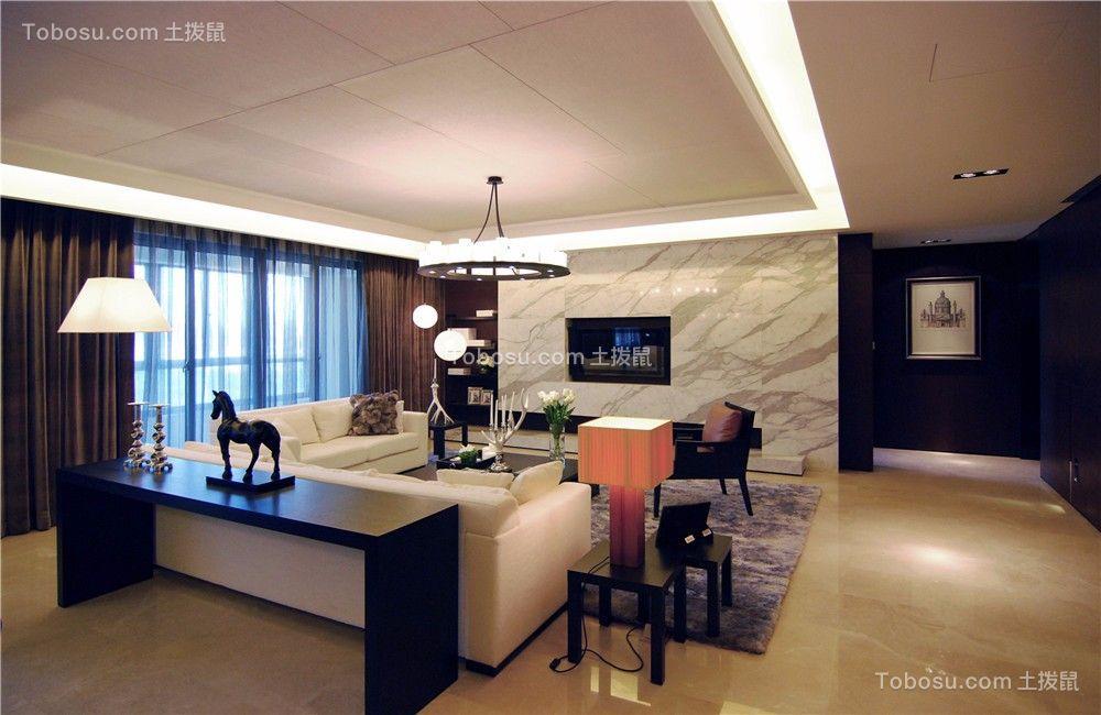玉兰广场105平现代简约风格三居室装修效果图