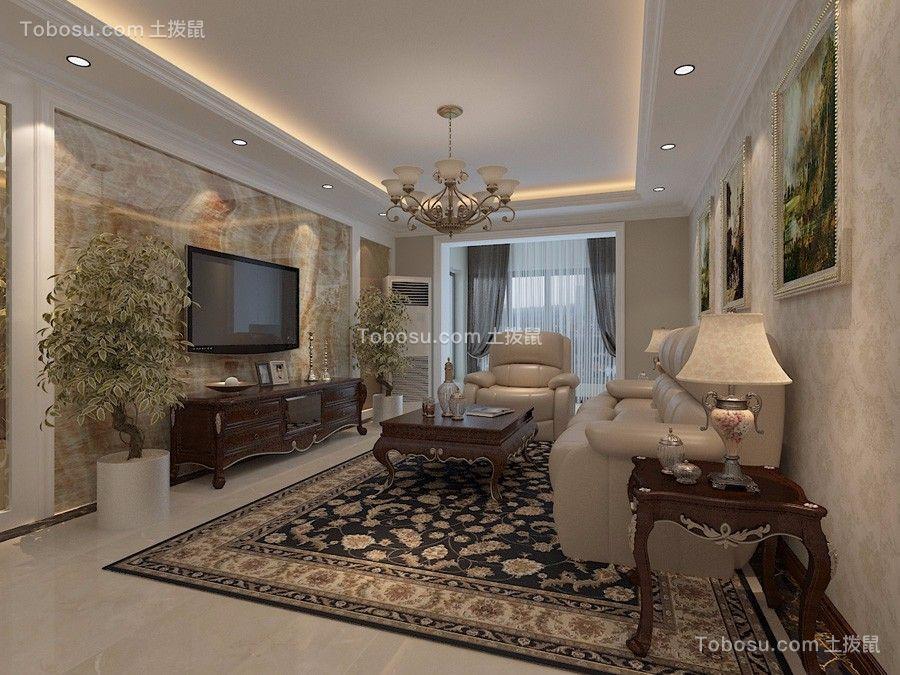 观锦135平米混搭风格三居室装修效果图