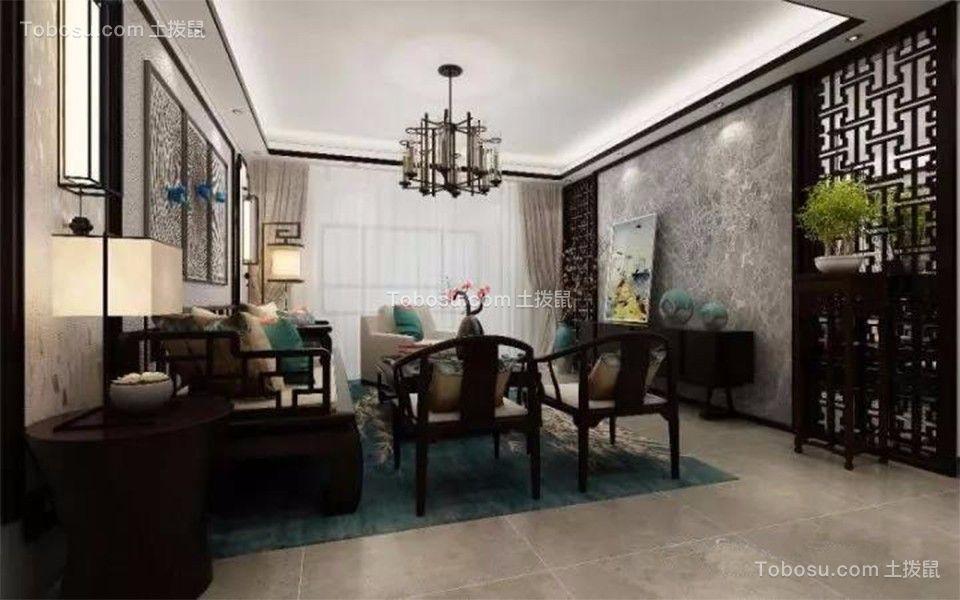 8万74㎡新中式风格2居室装修效果图