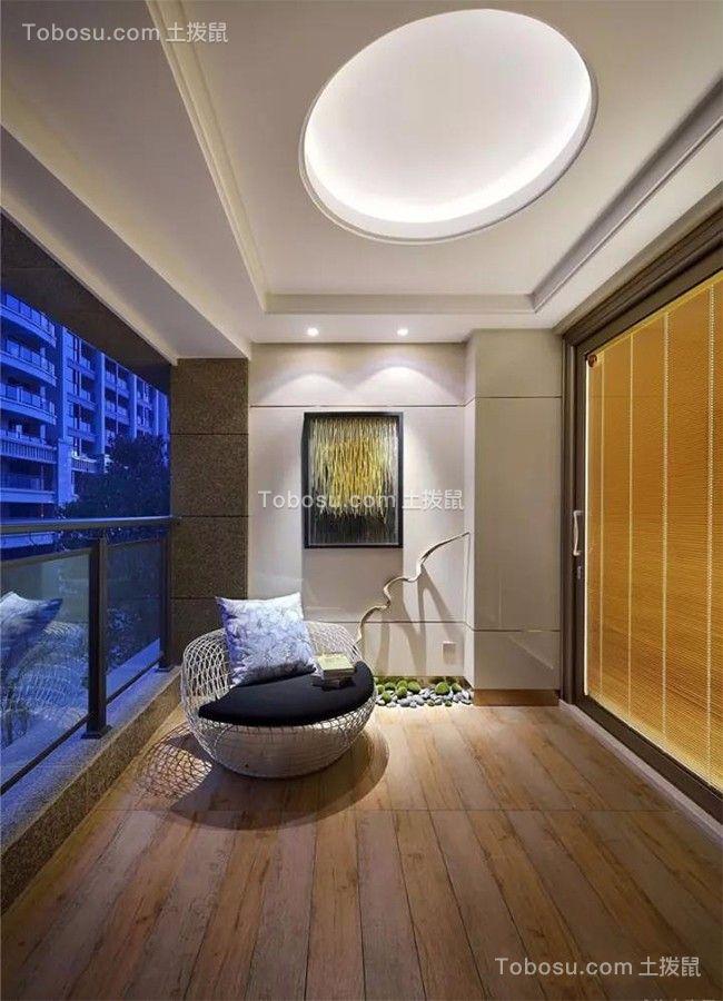 烟台山居郦城74平米新中式风格效果图