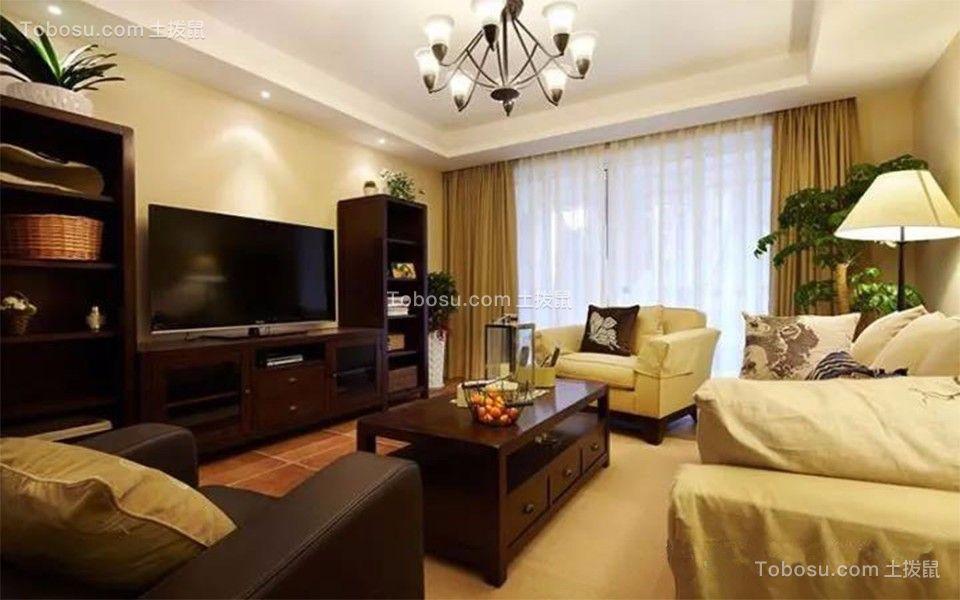 朱成山居郦城三室两厅美式风格精装案例