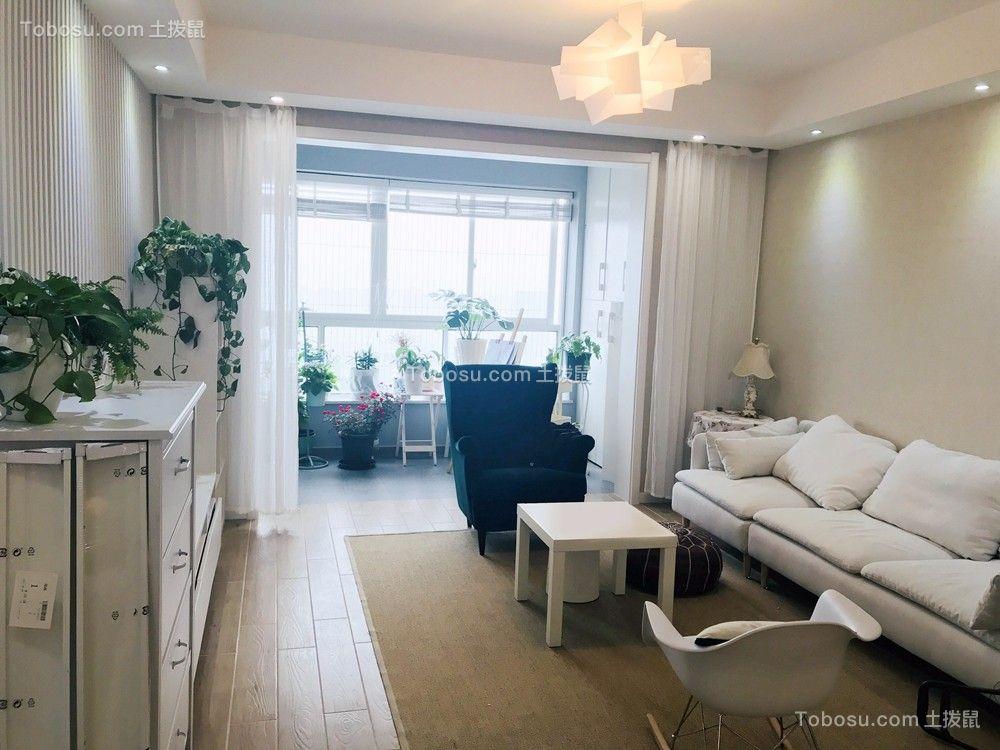 重庆招商花园城95平三居室现代风格装修实景图