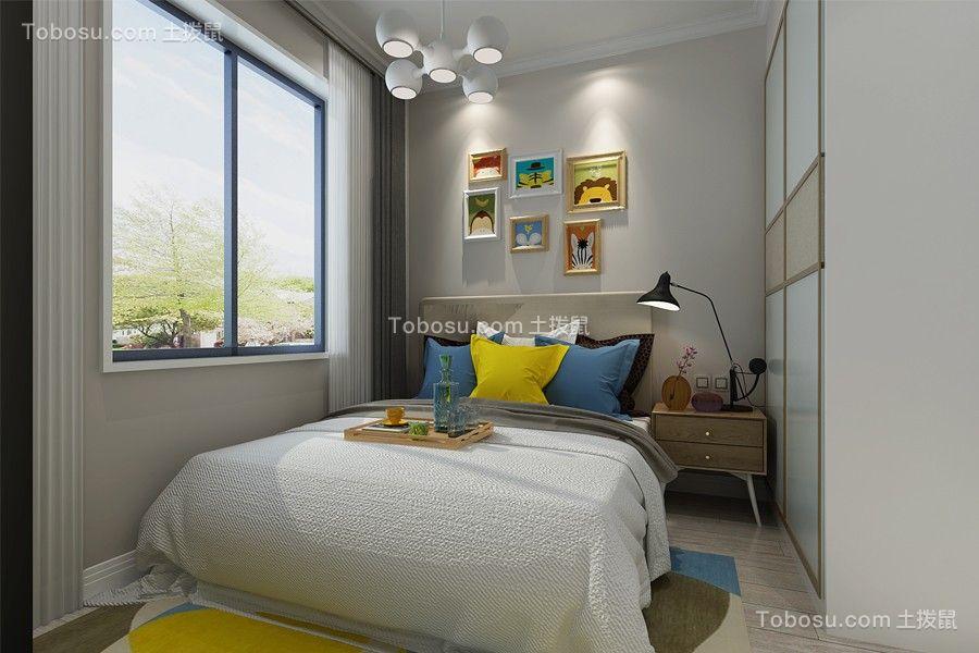 卧室咖啡色床头柜简约风格装修图片