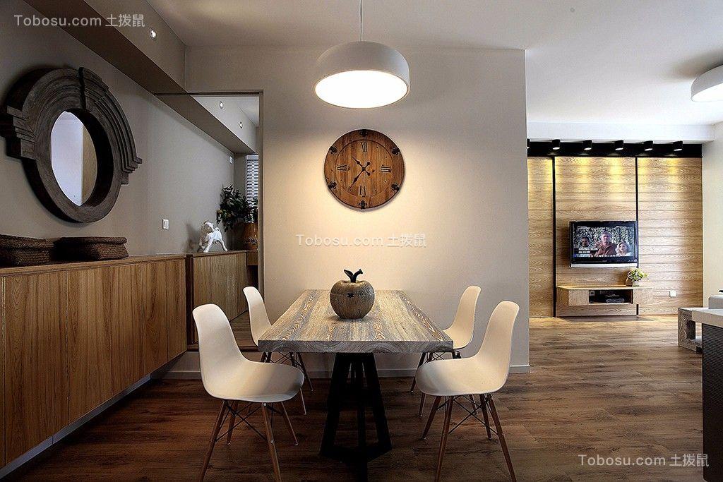 餐厅 吊顶_北欧风格98平米小户型室内装修效果图