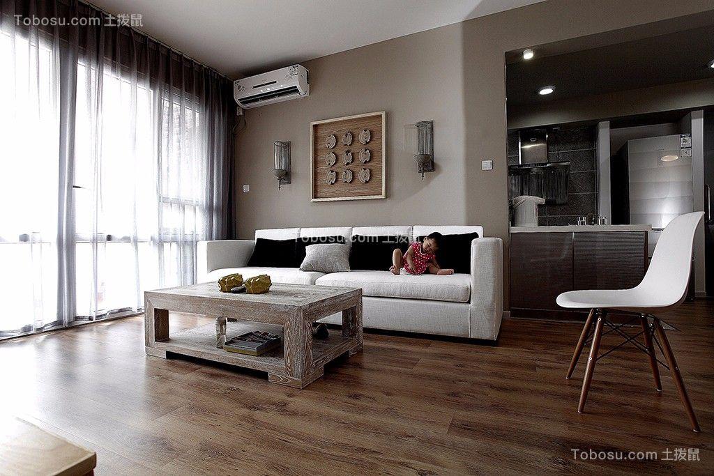 98平米北欧风格一室一厅装修效果图