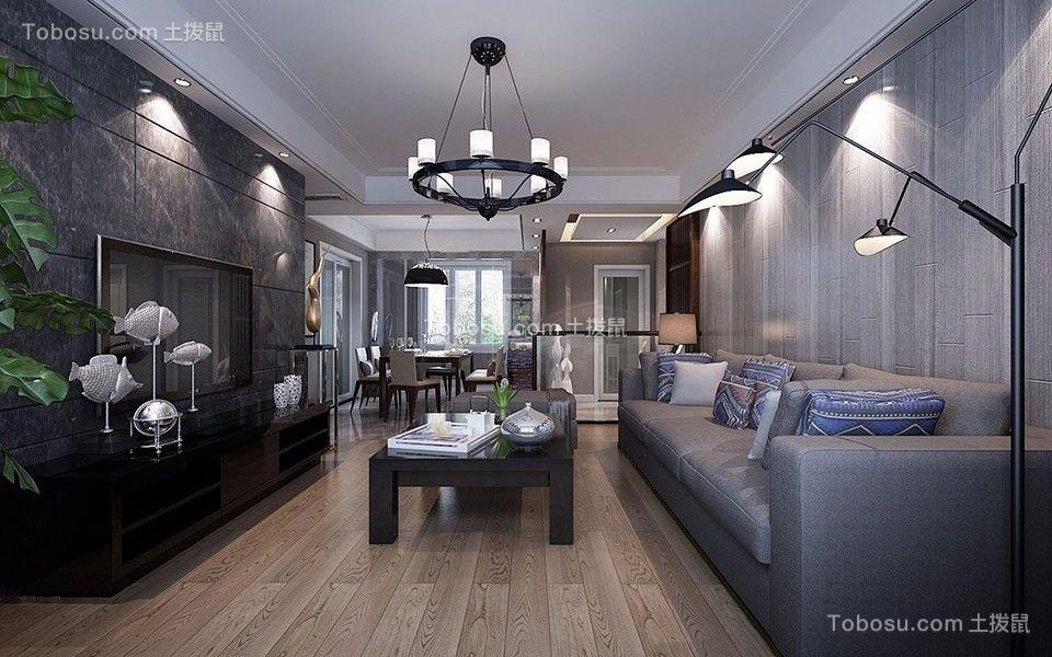 华润凯旋门70平两居室现代装修效果图