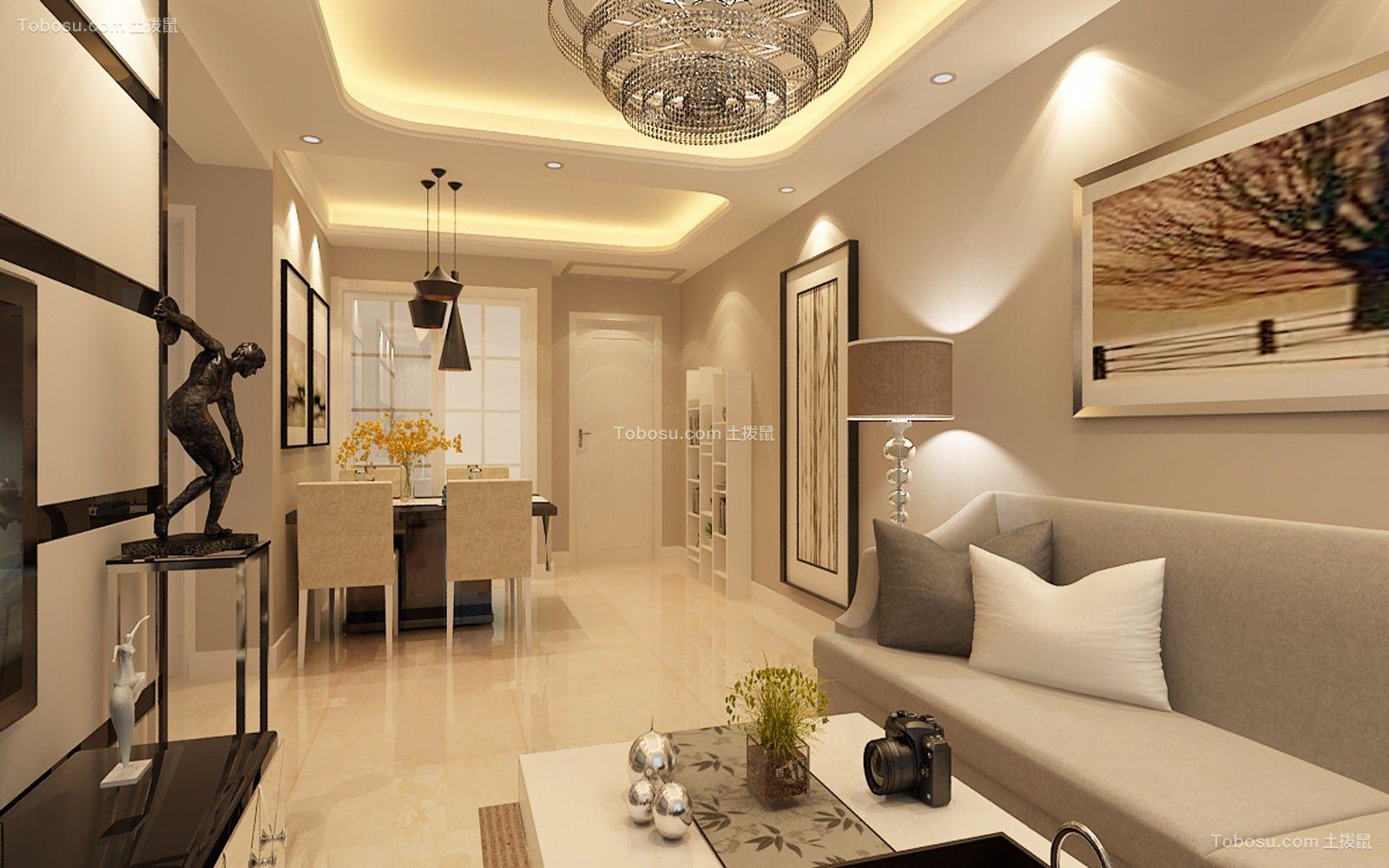 90平米中海城现代简约两居室装修效果图