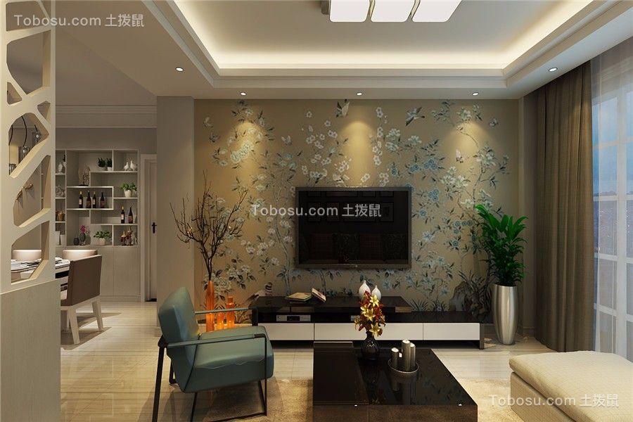 家属院80平两居室简约风格装修效果图