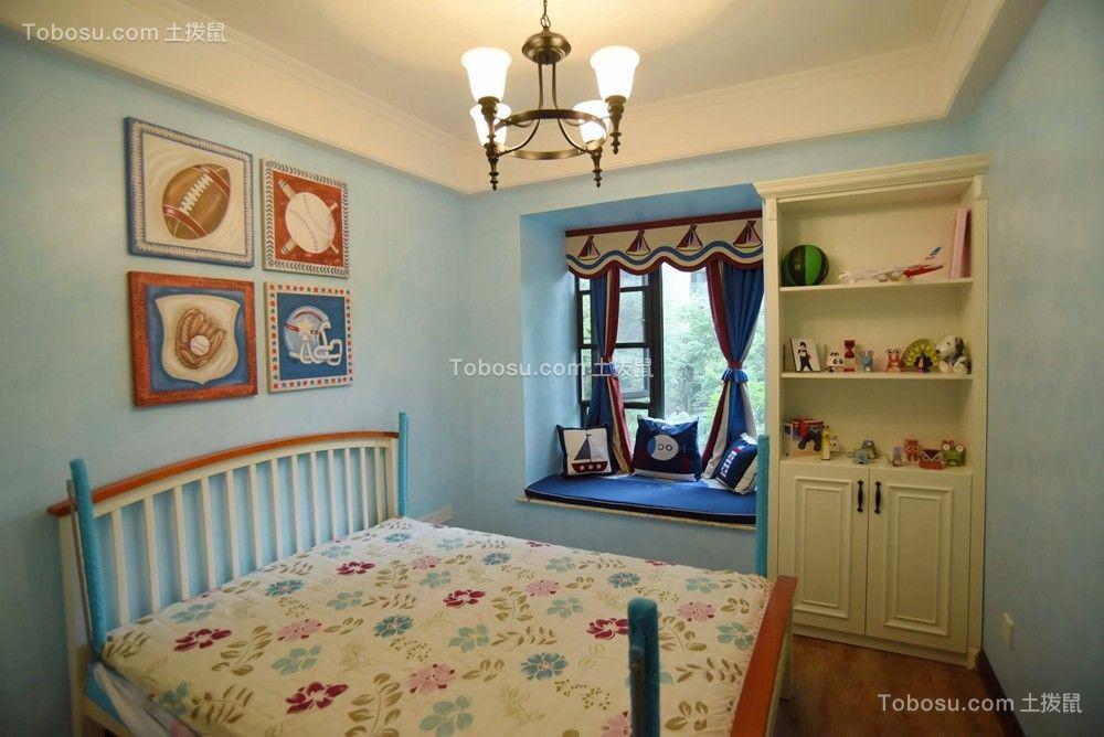 儿童房白色照片墙地中海风格装修图片
