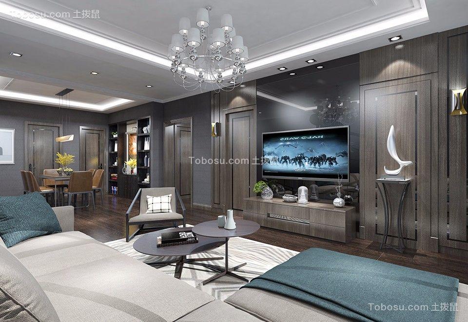 保利金香槟145平现代三居室装修效果图