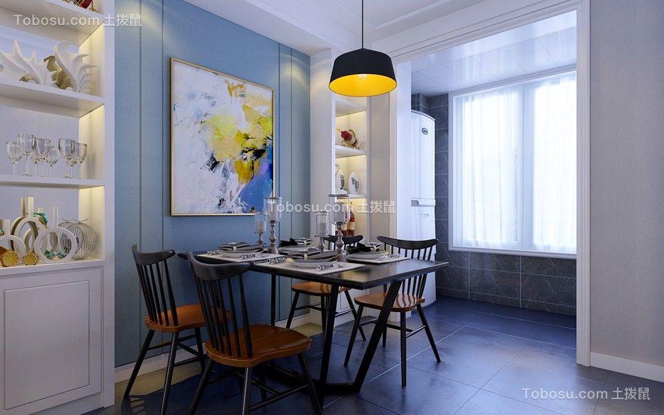 餐厅黑色餐桌北欧风格装修图片