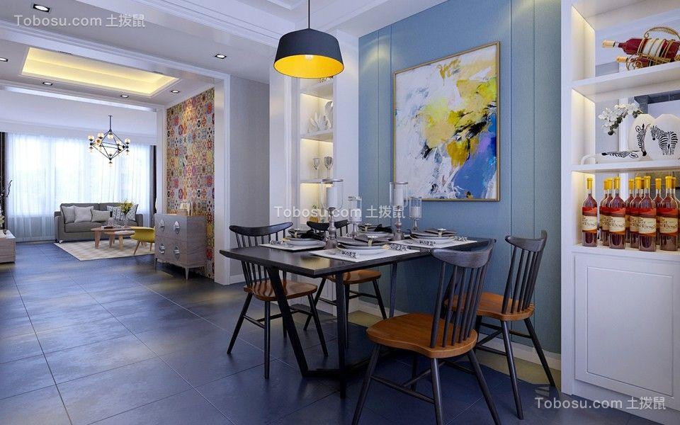 餐厅黑色餐桌北欧风格装饰图片