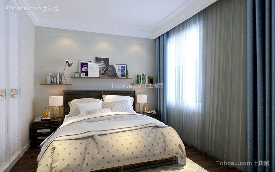 卧室黑色床北欧风格装饰设计图片图片