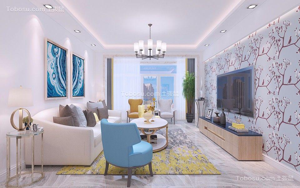 君地天城120平简约风格三居室装修效果图