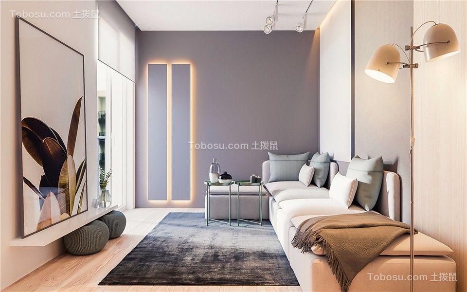 客厅彩色背景墙现代简约风格装饰效果图