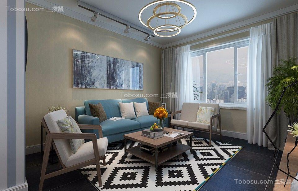 中海凤凰海岸88平现代风格二居室装修效果图