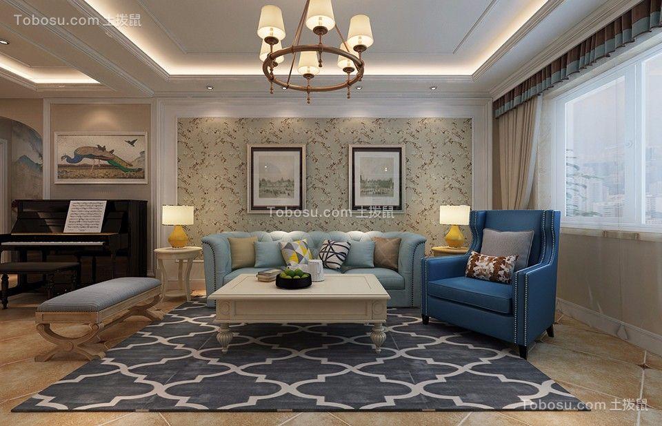 源山别院145平欧式风格三居室装修效果图
