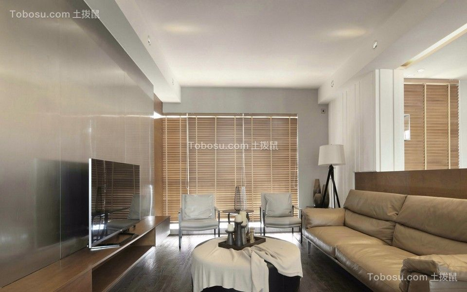 星河澜月湾122平混搭风格三居室装修效果图